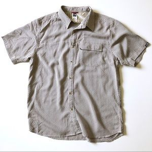 North Face men outdoor casual short sleeve shirt L